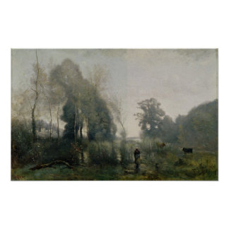 Morning at Ville-d'Avray or, The Cowherd, 1868 Poster