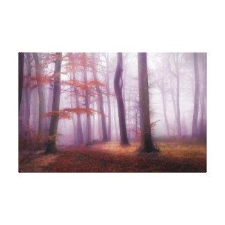 Morning Autumn Woods Canvas Print