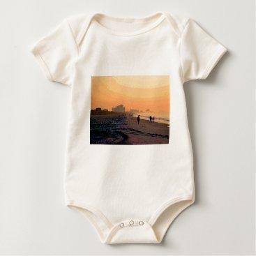 Beach Themed Morning Beachwalk Baby Bodysuit