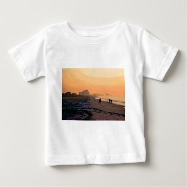 Beach Themed Morning Beachwalk Infant T-Shirt