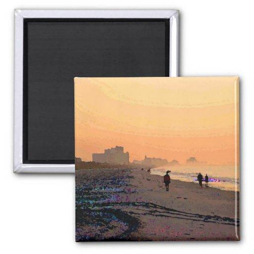 Morning Beachwalk Magnet