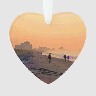 """Morning Beachwalk"" Ornament"