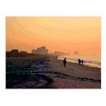 Morning Beachwalk Postcard