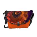 Morning Beauty Florescent Fractal Rickshaw Bag Messenger Bags