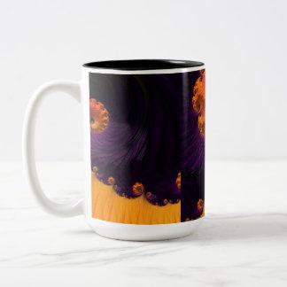 Morning Beauty Fractal Art Two-Tone Coffee Mug