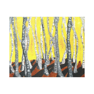 Morning Birch Stretched Canvas Print