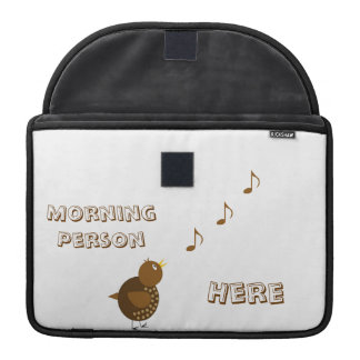 Morning Bird, Cartoon MacBook Pro Sleeve