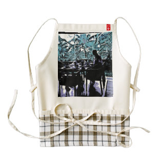 Morning breakfast zazzle HEART apron
