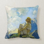 Morning, by Maxfield Parrish Throw Pillow