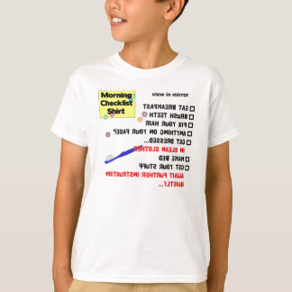 Morning Checklist (youth T) T-Shirt