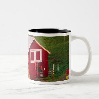 Morning chores on the farm. USA, Vermont, Two-Tone Coffee Mug