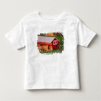 Morning chores on the farm. USA, Vermont, Toddler T-shirt