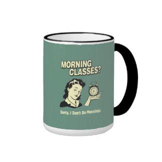 Morning Classes: I Don't Do Mornings Ringer Mug