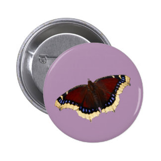Morning cloak butterfly design buttons and badges