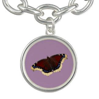 Morning cloak butterfly design charm bracelets