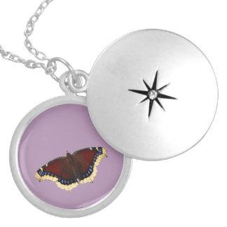 Morning cloak butterfly design lockets