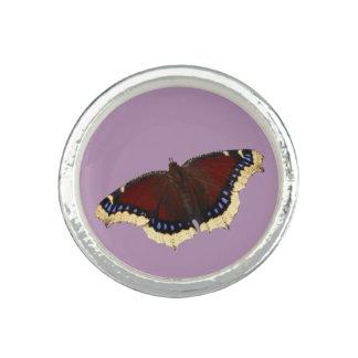 Morning cloak butterfly design rings