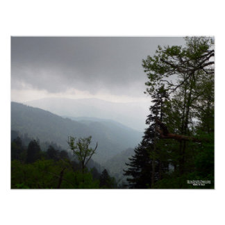 Morning Clouds Over Clingman s Dome Poster