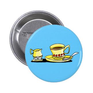 Morning coffe, cream and sugar button