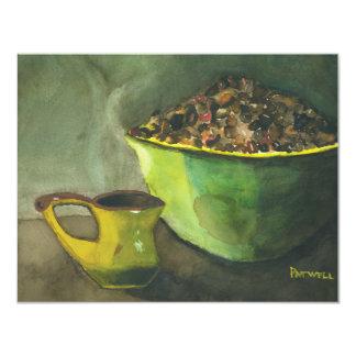 Morning Coffee 4.25x5.5 Paper Invitation Card