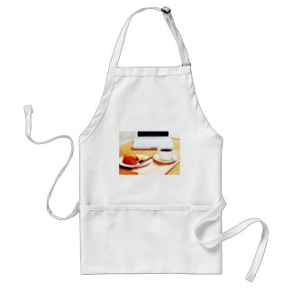 Morning Coffee and Croissant Adult Apron