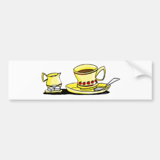 Morning coffee bumper sticker