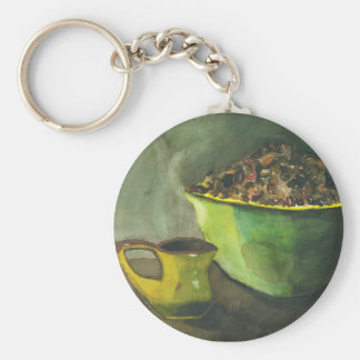 Morning Coffee by Paula Atwell Keychain