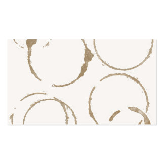 Morning Coffee Cup Stains Business Card