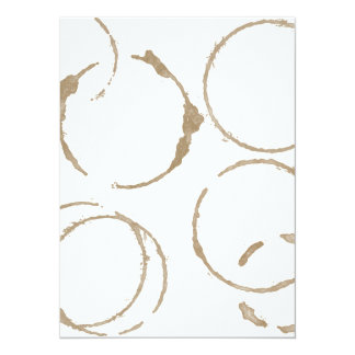 Morning Coffee Cup Stains 5.5x7.5 Paper Invitation Card