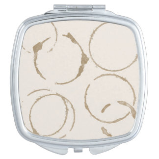 Morning Coffee Cup Stains Square Compact Mirror