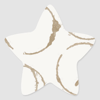 Morning Coffee Cup Stains Star Sticker