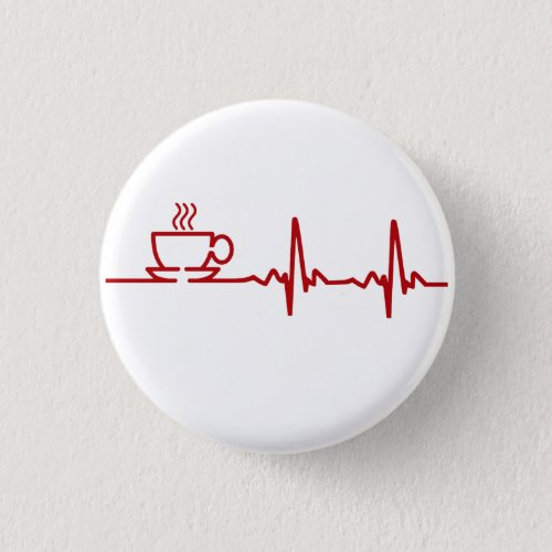 Morning Coffee Heartbeat EKG Button