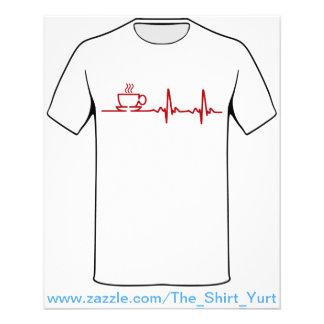 Morning Coffee Heartbeat EKG Flyer