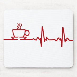Morning Coffee Heartbeat EKG Mouse Pad
