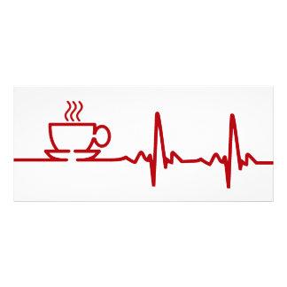 Morning Coffee Heartbeat EKG Customized Rack Card