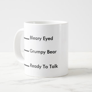 Morning Coffee Humor Levels Giant Coffee Mug