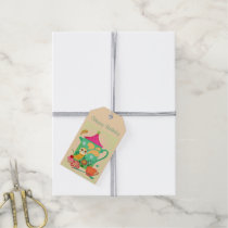 Morning Coffee Owl Gift Tags
