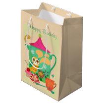 Morning Coffee Owl Medium Gift Bag