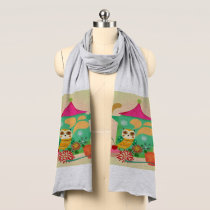 Morning Coffee Owl Scarf