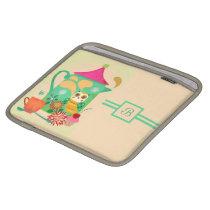 Morning Coffee Owl Sleeve For iPads