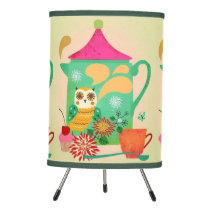 Morning Coffee Owl Tripod Lamp