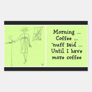 Morning Coffee Rectangular Sticker