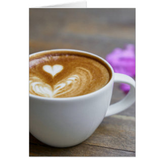Morning Cup Latte with Heart-Shaped Foam