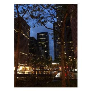 Morning Dawn in Rockefeller Center Midtown NYC Postcard