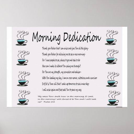 Morning Dedication Retro Poster