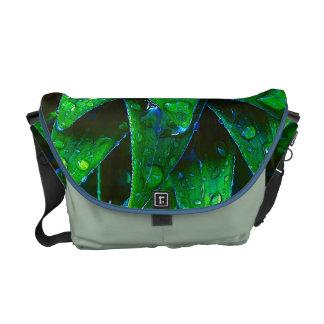 Morning Dew On Plant Messenger Bag