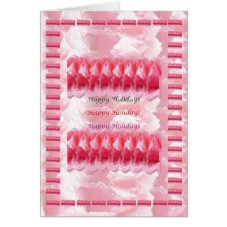 Morning Dew Rose Petal  - HappyHolidays Holidays Greeting Card
