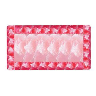Morning Dew Rose Petal Sparkle Border  Template Label