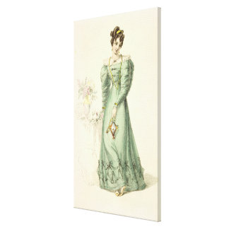Morning Dress, fashion plate from Ackermann's Repo Canvas Print