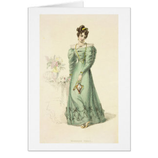 Morning Dress, fashion plate from Ackermann's Repo Greeting Card